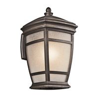 Kichler 49272RZ McAdams 1 Light 18 inch Rubbed Bronze Outdoor Wall Lantern
