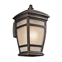 Kichler 49273RZ McAdams 1 Light 21 inch Rubbed Bronze Outdoor Wall Lantern