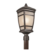 Kichler 49274RZ McAdams 1 Light 22 inch Rubbed Bronze Outdoor Post Lantern photo thumbnail