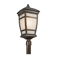 Kichler Lighting McAdams 1 Light Outdoor Post Lantern in Rubbed Bronze 49275RZ photo thumbnail