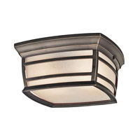 Kichler Mcadams 2 Light Outdoor Flush & Semi Flush Mt in Rubbed Bronze 49277RZFL