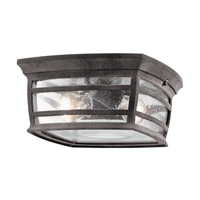 Kichler McAdams 2 Light Outdoor Ceiling Mount in Weathered Zinc 49277WZC