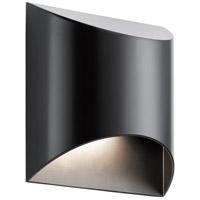 Kichler 49278BKLED Wesley LED 8 inch Black Outdoor Wall Sconce Medium