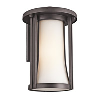 Kichler Lighting Tiverton 1 Light Outdoor Wall Lantern in Architectural Bronze 49281AZ photo thumbnail