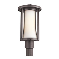 Kichler Lighting Tiverton 1 Light Outdoor Post Lantern in Architectural Bronze 49285AZ