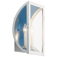 Kichler 49287WH Narelle 2 Light 15 inch White Outdoor Wall Light