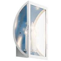 Kichler 49288WH Narelle 3 Light 17 inch White Outdoor Wall Light