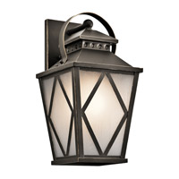 Kichler 49292OZ Hayman Bay 1 Light 17 inch Olde Bronze Large Outdoor Wall