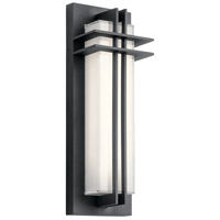 Kichler 49297BKTLED Manhattan LED 16 inch Textured Black Outdoor Wall Light, Small