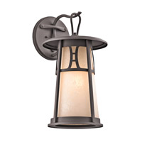 Kichler Lighting Oak Bluffs 1 Light Outdoor Wall Lantern in Textured Architectural Bronze 49302AZT photo thumbnail