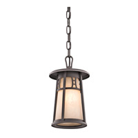 Kichler Lighting Oak Bluffs 1 Light Outdoor Pendant in Textured Architectural Bronze 49304AZT