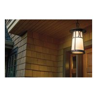 Kichler Lighting Oak Bluffs 1 Light Outdoor Pendant in Textured Architectural Bronze 49304AZT alternative photo thumbnail