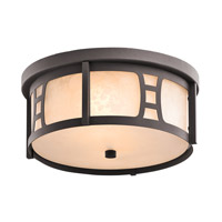 Kichler Lighting Oak Bluffs 2 Light Outdoor Flush Mount in Textured Architectural Bronze 49306AZT