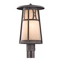 Kichler Lighting Oak Bluffs 1 Light Outdoor Post Lantern in Textured Architectural Bronze 49307AZT