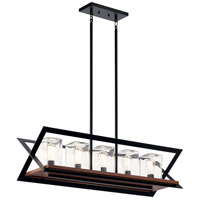 Kichler 49309BK Morelle 5 Light 11 inch Black Outdoor Chandelier