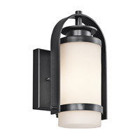 Kichler Lighting Westport 1 Light Outdoor Wall Lantern in Black (Painted) 49313BK