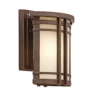 Kichler Lighting Crosett 1 Light Outdoor Wall Lantern in Aged Bronze 49318AGZ photo thumbnail