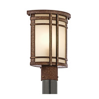 Kichler Lighting Crosett 1 Light Outdoor Post Lantern in Aged Bronze 49321AGZ