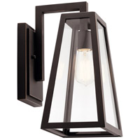 Kichler 49331RZ Delison 1 Light 14 inch Rubbed Bronze Outdoor Wall Light