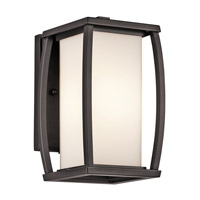 Kichler 49336AZ Bowen 1 Light 10 inch Architectural Bronze Outdoor Wall Lantern photo thumbnail