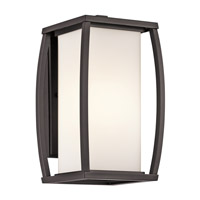 Kichler 49337AZ Bowen 1 Light 13 inch Architectural Bronze Outdoor Wall Lantern