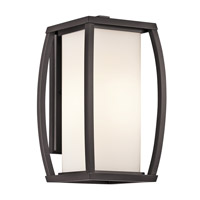 Kichler 49338AZ Bowen 1 Light 16 inch Architectural Bronze Outdoor Wall Lantern photo thumbnail