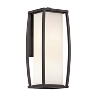 Kichler 49339AZ Bowen 2 Light 18 inch Architectural Bronze Outdoor Wall Lantern photo thumbnail