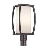 Kichler Lighting Bowen 1 Light Outdoor Post Lantern in Architectural Bronze 49342AZ photo thumbnail
