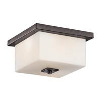 Bowen 2 Light 11 inch Architectural Bronze Outdoor Flush Mount