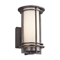 Kichler Pacific Edge 1 Light Outdoor Wall Mount in Architectural Bronze 49344AZFL