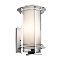 Pacific Edge 1 Light 11 inch Polished Stainless Steel Outdoor Wall Lantern in Standard