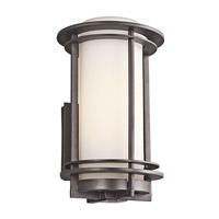 Kichler 49345AZ Pacific Edge 1 Light 13 inch Architectural Bronze Outdoor Wall Lantern in Standard