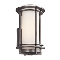 Kichler Pacific Edge 1 Light Outdoor Wall Mount in Architectural Bronze 49345AZFL