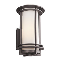 Kichler 49346AZ Pacific Edge 1 Light 17 inch Architectural Bronze Outdoor Wall Lantern in Standard