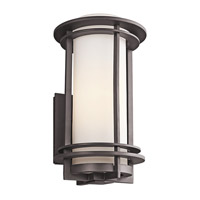Kichler Pacific Edge 1 Light Outdoor Wall Mount in Architectural Bronze 49346AZFL