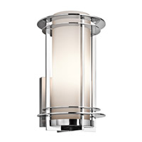 Kichler 49346PSS316 Pacific Edge 1 Light 16 inch Polished Stainless Steel Outdoor Wall Lantern in Standard