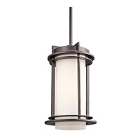 Kichler 49348AZ Pacific Edge 1 Light 8 inch Architectural Bronze Outdoor Pendant