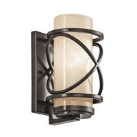 Kichler Lighting Trafari 1 Light Small Outdoor Wall Lantern in Architectural Bronze 49356AZ photo thumbnail