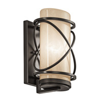 Kichler Lighting Trafari 1 Light Medium Outdoor Wall Lantern in Architectural Bronze 49357AZ photo thumbnail