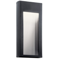 Kichler 49362BKTLED Ryo LED 16 inch Textured Black Outdoor Wall Light