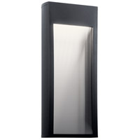 Kichler 49363BKTLED Ryo LED 21 inch Textured Black Outdoor Wall Light
