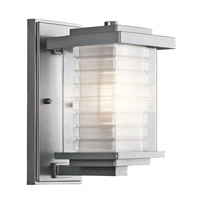 Kichler Lighting Ascari 1 Light Small Outdoor Wall Lantern in Platinum 49364PL