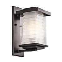 Kichler Lighting Ascari 1 Light Medium Outdoor Wall Lantern in Architectural Bronze 49365AZ