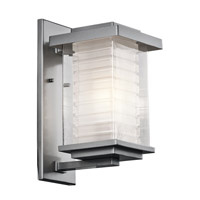 Kichler Lighting Ascari 1 Light Medium Outdoor Wall Lantern in Platinum 49365PL photo thumbnail