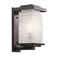 Kichler Lighting Ascari 1 Light Medium Outdoor Wall Lantern in Architectural Bronze 49366AZ