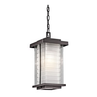 Kichler Lighting Ascari 1 Light Outdoor Hanging Pendant in Architectural Bronze 49368AZ