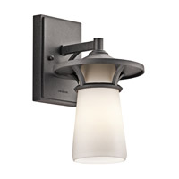 Kichler Lighting Lura 1 Light Outdoor Wall Lantern in Anvil Iron 49369AVI