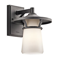 Kichler Lighting Lura 1 Light Outdoor Wall Lantern in Anvil Iron 49370AVI photo thumbnail