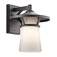 Kichler Lighting Lura 1 Light Outdoor Wall Lantern in Anvil Iron 49371AVI photo thumbnail