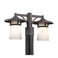 Kichler Lighting Lura 2 Light Outdoor Post Lantern in Anvil Iron 49374AVI photo thumbnail